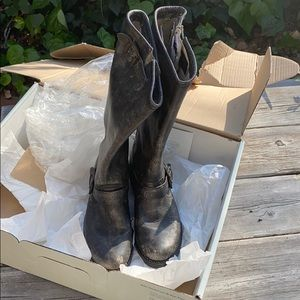 Frye Distressed Veronica Slouch Boots